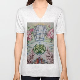 The Toad of Cherry Blossom River Unisex V-Neck