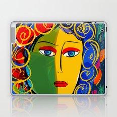 The Green Yellow Pop Girl Portrait Laptop & iPad Skin