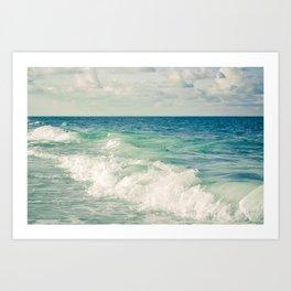 Tropical Beach Bliss Art Print
