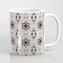 Bridal Blush Floral Geometric Pattern Coffee Mug