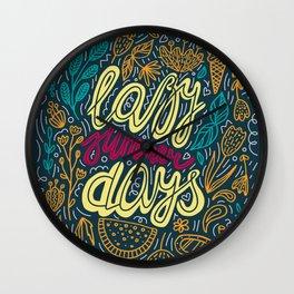 Lazy Summer Days Retro Poster Wall Clock