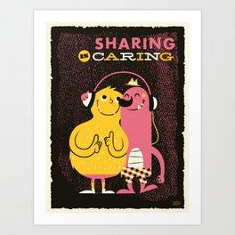 Sharing Art Print