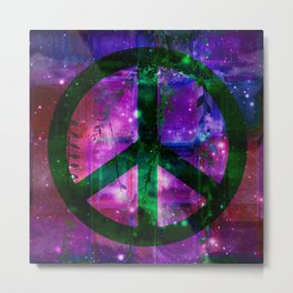 Peace symbol and infused colors Metal Print