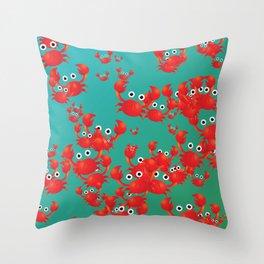 Crab world Throw Pillow