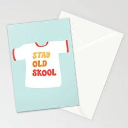 Stay Old Skool Tee Stationery Cards