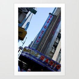 New York City Radio City Music Hall Art Print