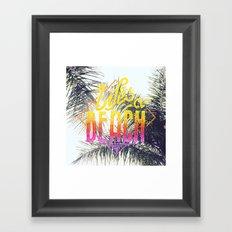 Lifes a beach Framed Art Print