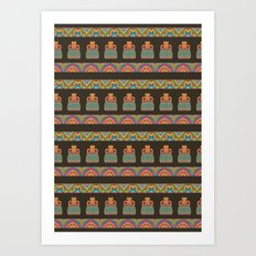 Traditional African Tribal Pottery Pattern Art Print