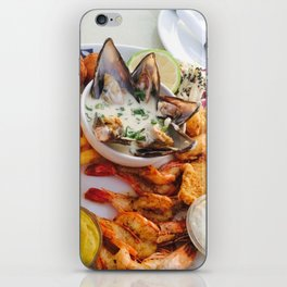 Full Platter Meal- Fish Market iPhone Skin