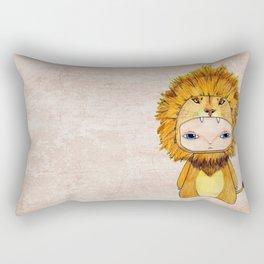 A Boy - Lion Rectangular Pillow