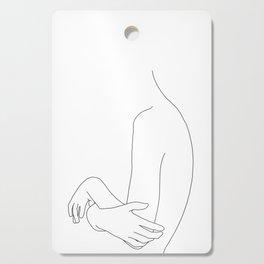 Crossed arms illustration - Jen Cutting Board