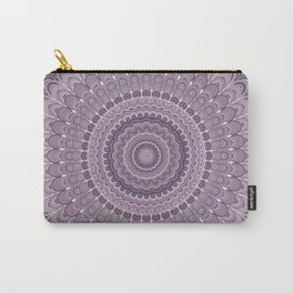Purple feather mandala Carry-All Pouch