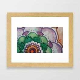 Fleur de la vie mandala violet Framed Art Print