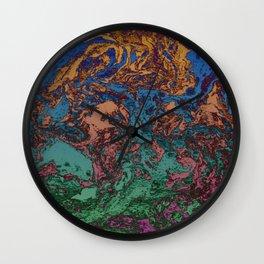 """Marbré """"psychélectrique"""" Wall Clock"""