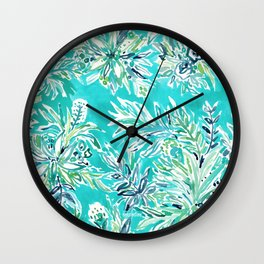 KAILUA CHILL Tropical Hawaiian Floral Wall Clock