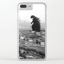 Old Time Godzilla Clear iPhone Case