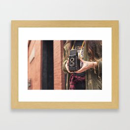 Take a photo Framed Art Print