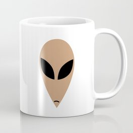 Alien head in cartoon stlye Coffee Mug
