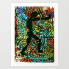 Push On // Push OFF Art Print