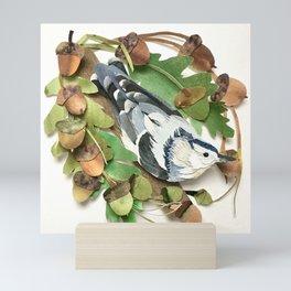 Acorn Nuthatch Mini Art Print