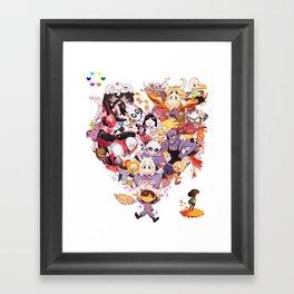 Undertale heart Framed Art Print