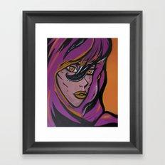 Purple Queen Framed Art Print