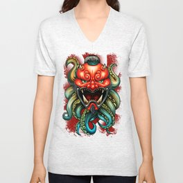 Oni Mask Summer 12 Unisex V-Neck