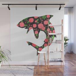 Floral Shark Wall Mural