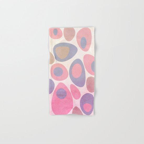 Mod Egg Textured Pink Hand & Bath Towel