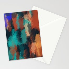 brown green blue and black painting texture abstract background Stationery Cards
