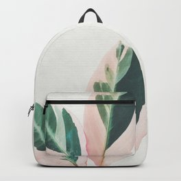 Pink Leaves I Backpack