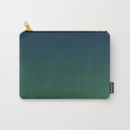 Blue-green Ombre Carry-All Pouch