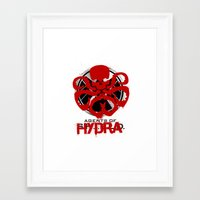 agents of shield Framed Art Prints featuring Agents Of Hydra by monsieurgordon