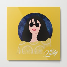 The Lady - Lemon Metal Print