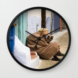 Moroccan man thinking Wall Clock