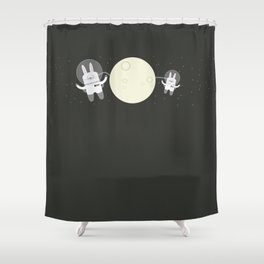 Astro Bunnies Shower Curtain