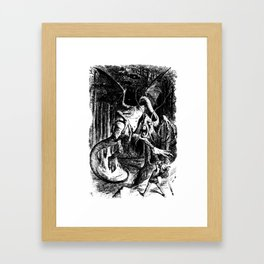 Jabberwocky Illustration from Alice in Wonderland Transparent Background Framed Art Print