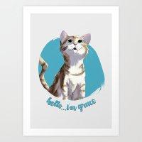hello...i'm grace Art Print
