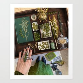 Lily of the Valley Witch Art Print