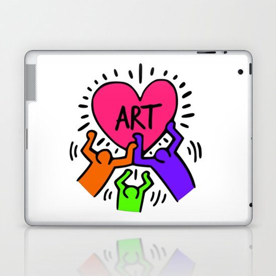 "Keith Haring inspired ""I Love Art"" Secondary Colors edition by korkeddesigns"