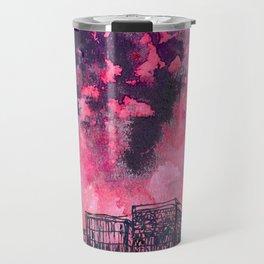 building watercolor city Travel Mug
