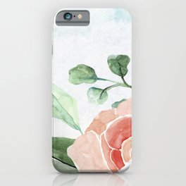 Watercolor Flowers Shabbat Shalom Jewish Art iPhone Case