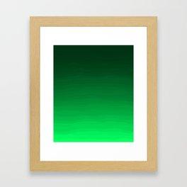 Happy Bright Apple Green Ombre Framed Art Print