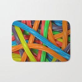 Colorful licorice candy Bath Mat