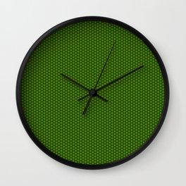 Green Wheels Wall Clock