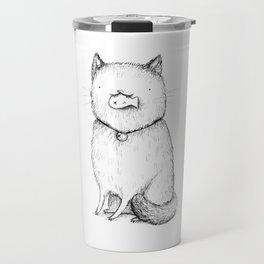 Kitty With Fish Cracker Travel Mug