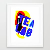 lab Framed Art Prints featuring Tea Lab by mark jones