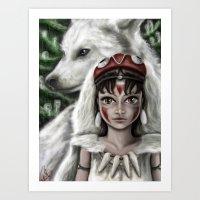 mononoke Art Prints featuring Mononoke by goodgirl_arcee