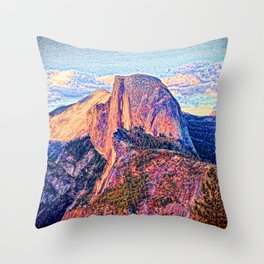 Half Dome Horizon Throw Pillow