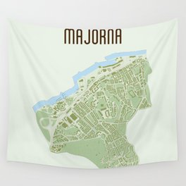 Map of the people's republic of Majorna Wall Tapestry